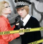U.K.xU.S.-police x prisoner-Hetalia-cosplay by mirrorflowertw
