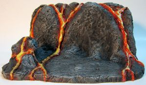 Custom Lava Action Figure Display Base by firebladecomics