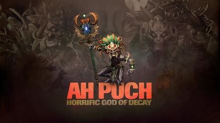 SMITE - Ah Puch, God of Decay (Wallpaper) by Getsukeii