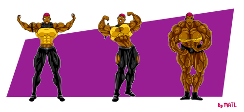 Commission - Maxine Gibson muscle growth sequence by MATL