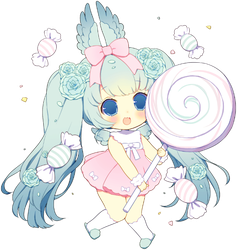 Lollipop Angel by CakexChan