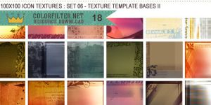 Icon Textures Set 06 - Texture Template Bases II by colorfilter