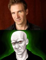 Ralph Fiennes as Voldemort by tsuta