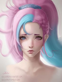 YOUTUBE SPEEDPAINT - Cotton Candy by Lolliedrop