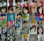 2014 Drawing - My year end drawing collage :)) by nielopena