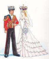 Keith and Allura on their Wedding Day by Cheetoy