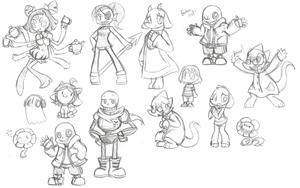 Undertale Sketches by SilviShinyStar