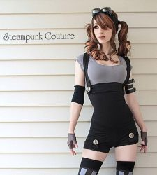 Black Underbust Playsuit by ByKato