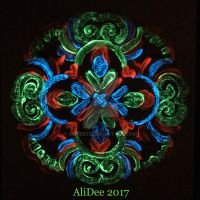 Glow-in-the-Dark Mandala Painting by AliDee33