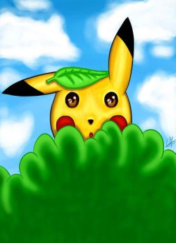 Pikachu In The Bushes... by Chrisszilla