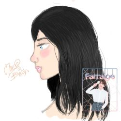 Second Draw in all my life One of my oc Darcie by jelsaSnowflake