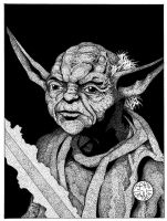 Yoda by Batman4art