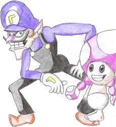 Waluigi and Toadette by lilwendel8706