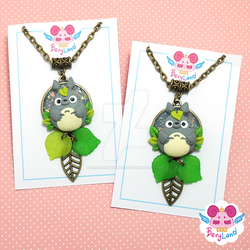 Totoro Necklaces by dragonfly-world