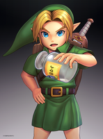 Young Link (Ultimate) by hybridmink