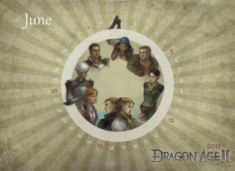 DragonAge 2011 Calendar-JuneII by tankgirly