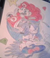 Mario And Sonic Racing by DontaeSuperstar09