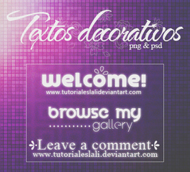Textos decorativos [PNG/PSD] by tutorialeslali