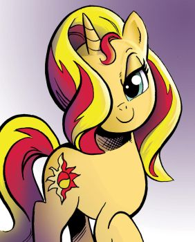 Sunset Shimmer color study by andypriceart