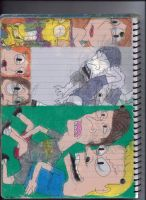 Beavis and Butt-Head, Family Guy, and The Simpsons by RozStaw57