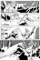 Red Sonja sample page 6 by Almayer