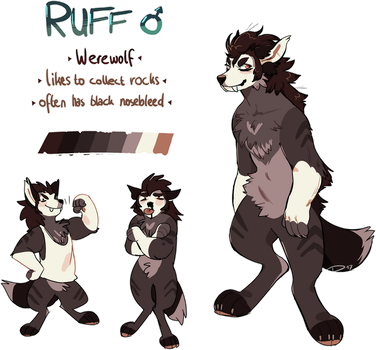 Ruff - Reference Sheet (Commission) by pollovy