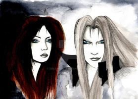 .:Kirianna and Sephiroth by DreamOn11