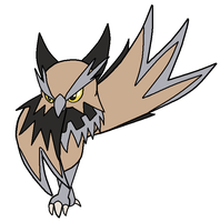 Fakemon- Hoothorn by Noland005