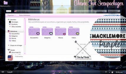 Macklemore Purple (Theme for Iconpackager) by BellakysBlueTeam