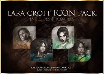 Lara Croft Icon Pack - FREE DOWNLOAD by kakilaracroft