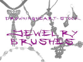 jewelry brushes by drowningheart-stock