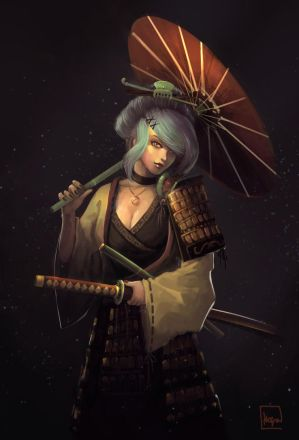 The Swordswoman by KiraLNG