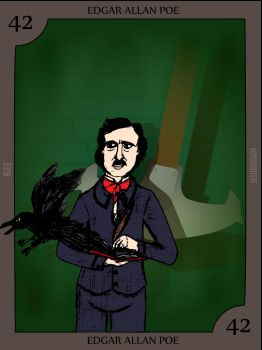 Edgar Allan Poe by Nerdroditie