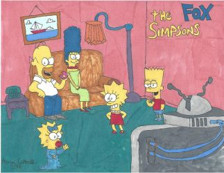 Marker Mania: The Simpsons by Amazing-A2001