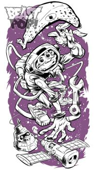 SPACEMONKEY inks by pop-monkey