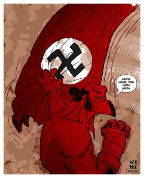 Hellboy_Nazi Hunter by ViniVix