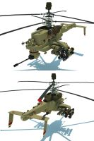 Attack helicopter by flaketom