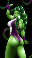 She Hulk Posing up by AxelTherion