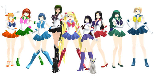 [1000+ Watchers' Gift] Sailor Scouts Download by K-Channnn
