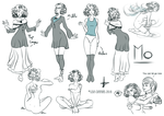 The many layers of Mo - MoMori Character Sheet by BaGgY666
