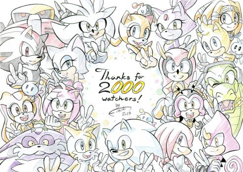 Thanks for 2000 watchers! by FinikArt
