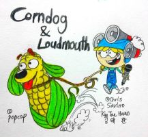 Corn Dog and Loudmouth by komi114