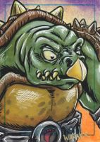 TOKKA sketch card by JLWarner
