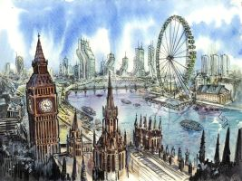 London of the future by Godyna