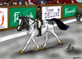 Combined Event  Coral Dressage by Louvan