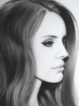 Lana del Rey closeup by anyus