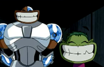 Best Cyborg and Beast Boy Faces Ever by Wriggle-Kick