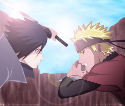 Collab - Naruto vs Sasuke by itachiulquiorra