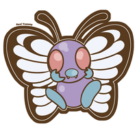 Chibi Butterfree - SPEED PAINTING VIDEO! -
