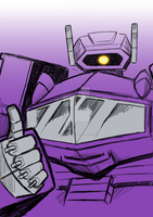 Commission:  Transformers G1 Shockwave by Natephoenix